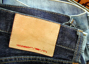 Excel macro on a jeans label