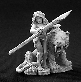 Reaper Miniatures Jungle Girl with Sabre Tooth Tiger
